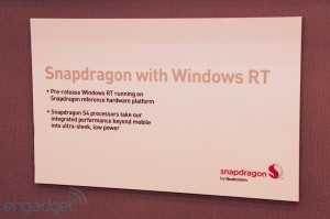 Windows RT su Qualcomm Snapdragon S4