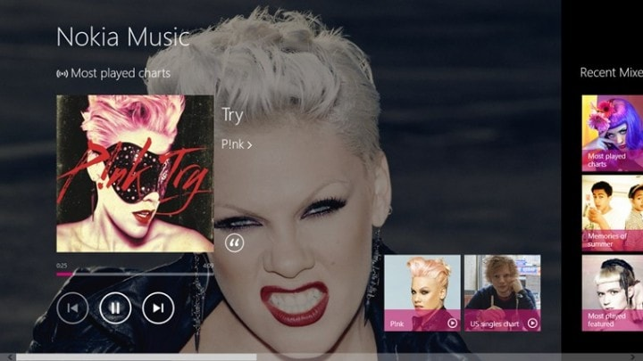 Nokia Music per Windows RT / 8