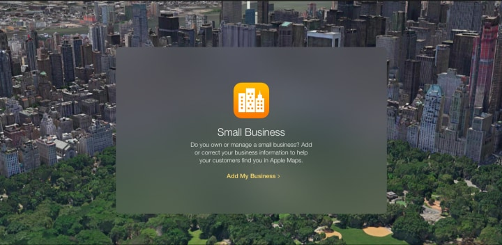 Apple Maps Small Business