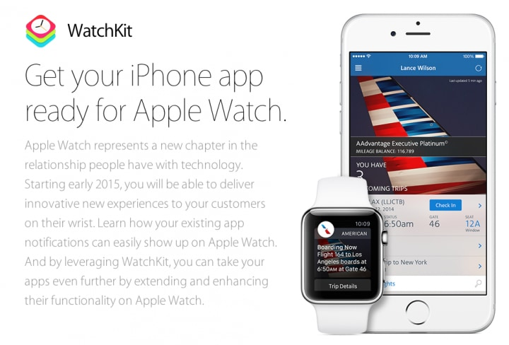 Apple Watch developer landing