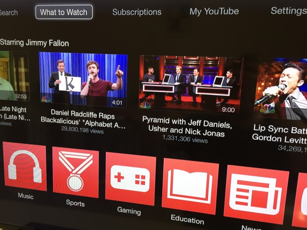 Apple TV aggiornamento YouTube