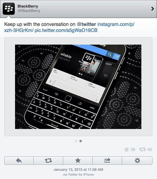 BlackBerry twitter iPhone