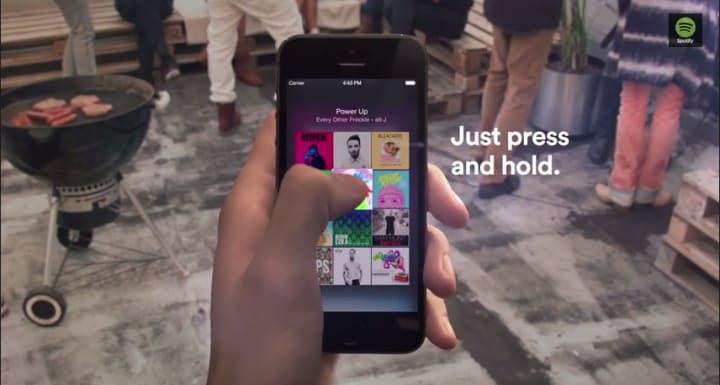 Spotify Touch Preview