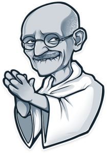 Sticker Gandhi