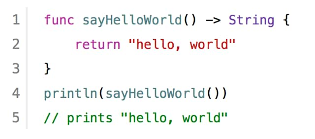 Swift example