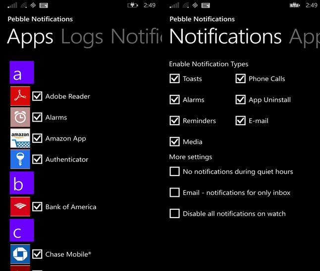 Pebble-Notifications-Microsoft
