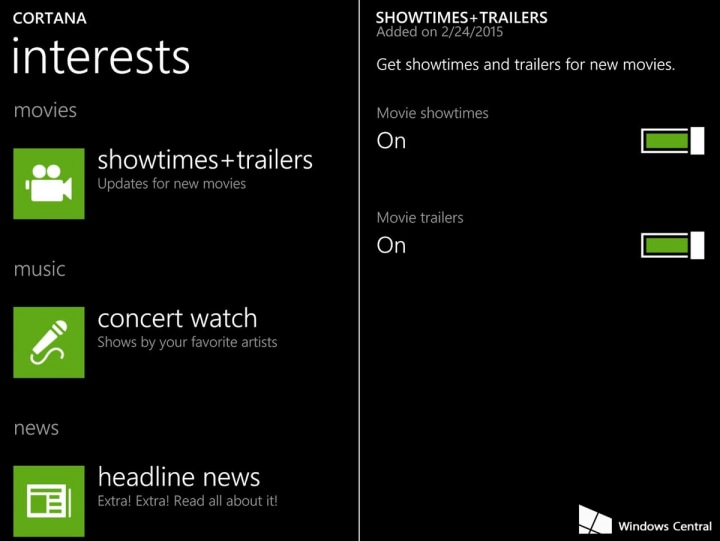 cortana-showtimes