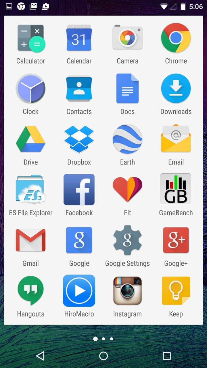 Android Lollipop App-drawer