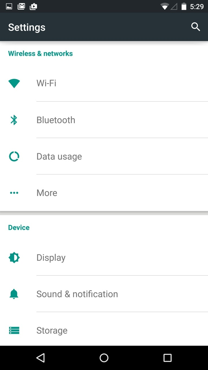 Android Lollipop Settings