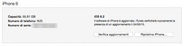 Guida installare iOS 8.3 iPhone 6