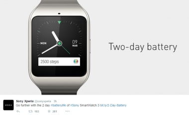 Sony Smartwatch 3 Apple Watch