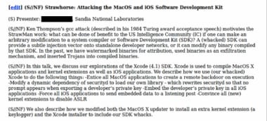 Xcode backdoor NSA CIA iPhone