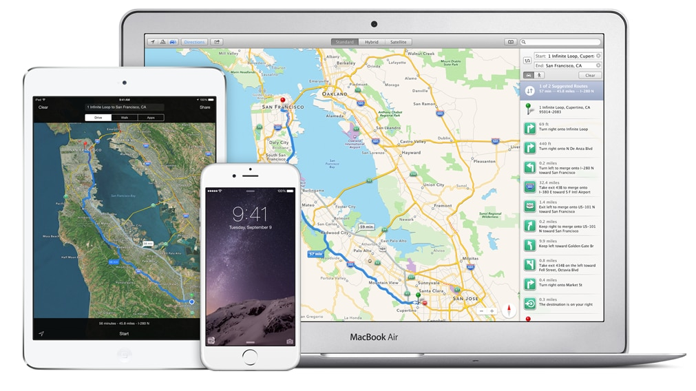 Apple Maps multi device
