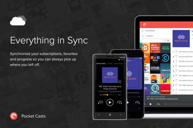 Everything in Sync Pocket Casts Windows Phone
