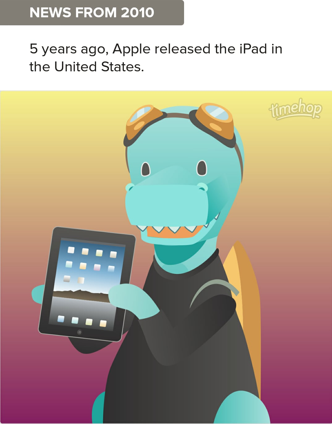 TimeHop compleanno iPad