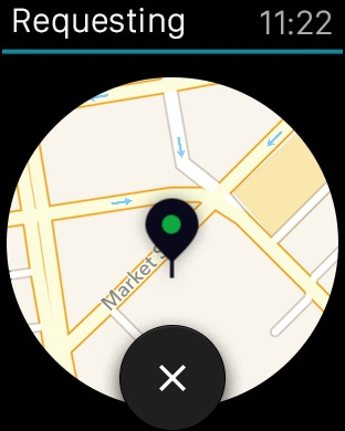 Uber screenshot Apple Watch -2