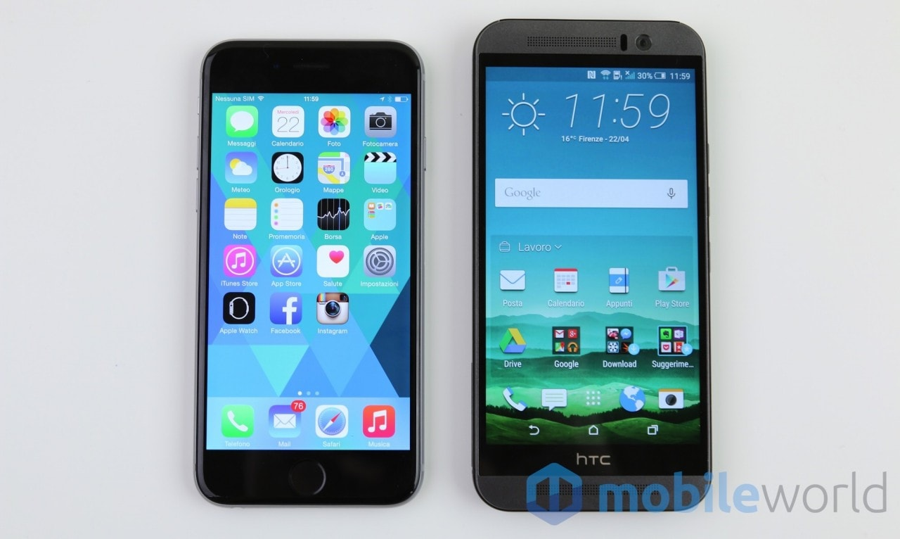 iPhone 6 vs One M9  - 1