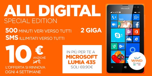 Lumia 435 Wind All digital special edition