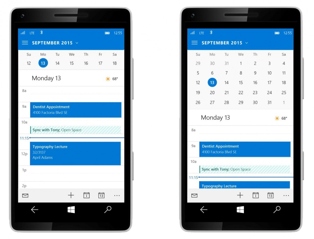 Windows 10 Mobile nuova interfaccia outlook1