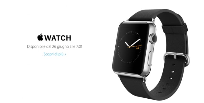 Apple Watch Italia 26 giugno 7.01 Apple Store