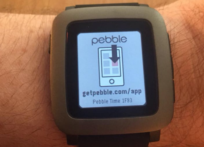 Pebble Time no app iOS
