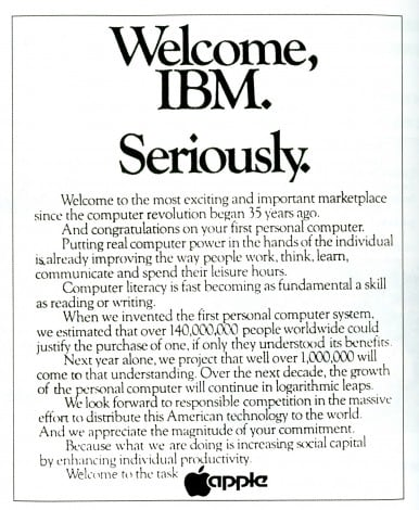 Welcome IBM, seriously