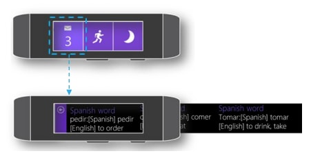 Microsoft Band Web Tile