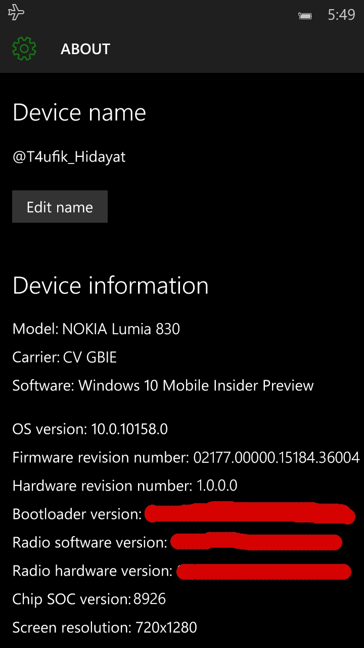 Windows 10 Mobile Build 10158 - 1