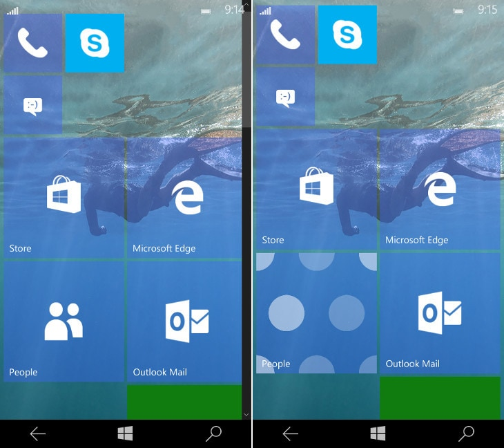 Windows 10 Mobile - build 10158 - 1