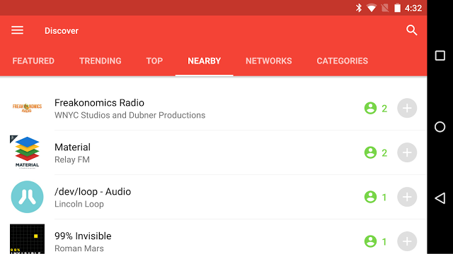 pocket casts nearby