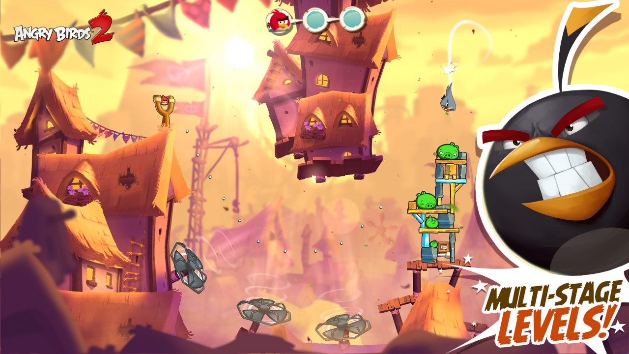 Angry Birds 2 screenshot_multistage levels