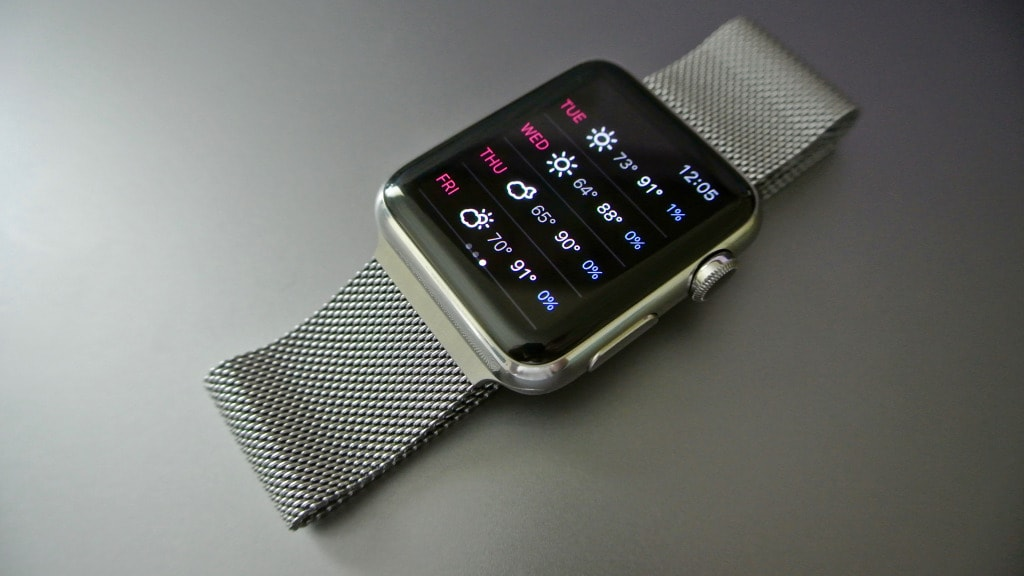 Apple Watch meteo