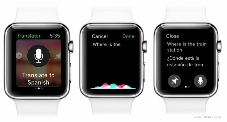 Microsoft Translate Apple Watch