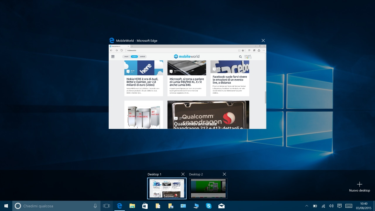 Multi-desktop in Windows 10