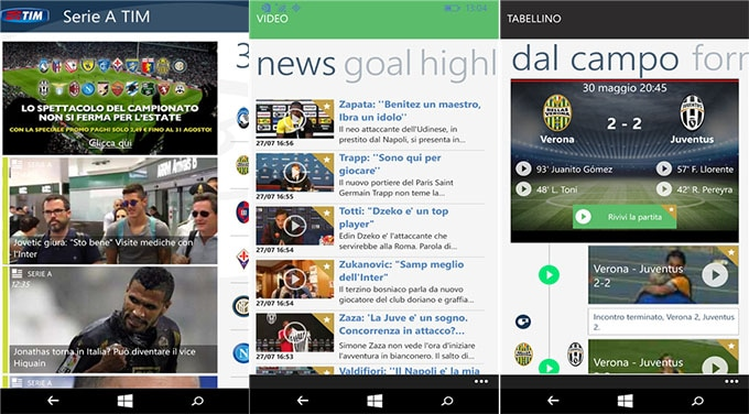 Serie A TIM Windows Phone