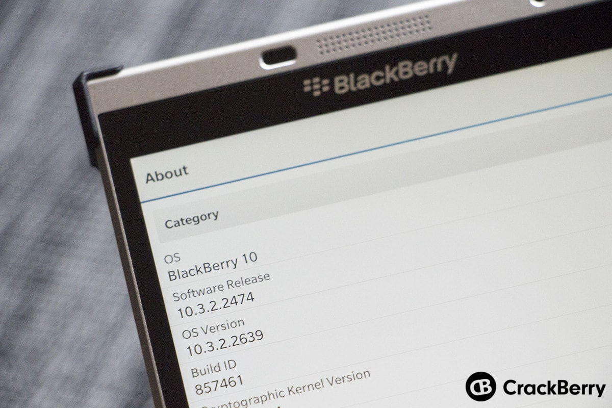 BlackBerry OS 10.3.2.2639