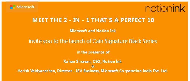 Invito evento Notion Ink - Microsoft