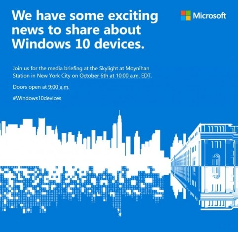 Microsoft invito evento windows-10