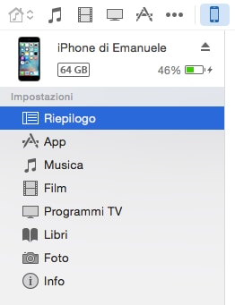 Riepilogo iPhone