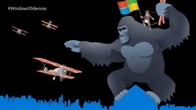 Windows 10 gatto ninja king kong
