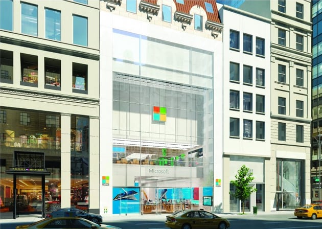 Sketch-of-Microsofts-new-New-York-City-store