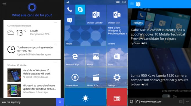 Windows 10 Mobile build 10563