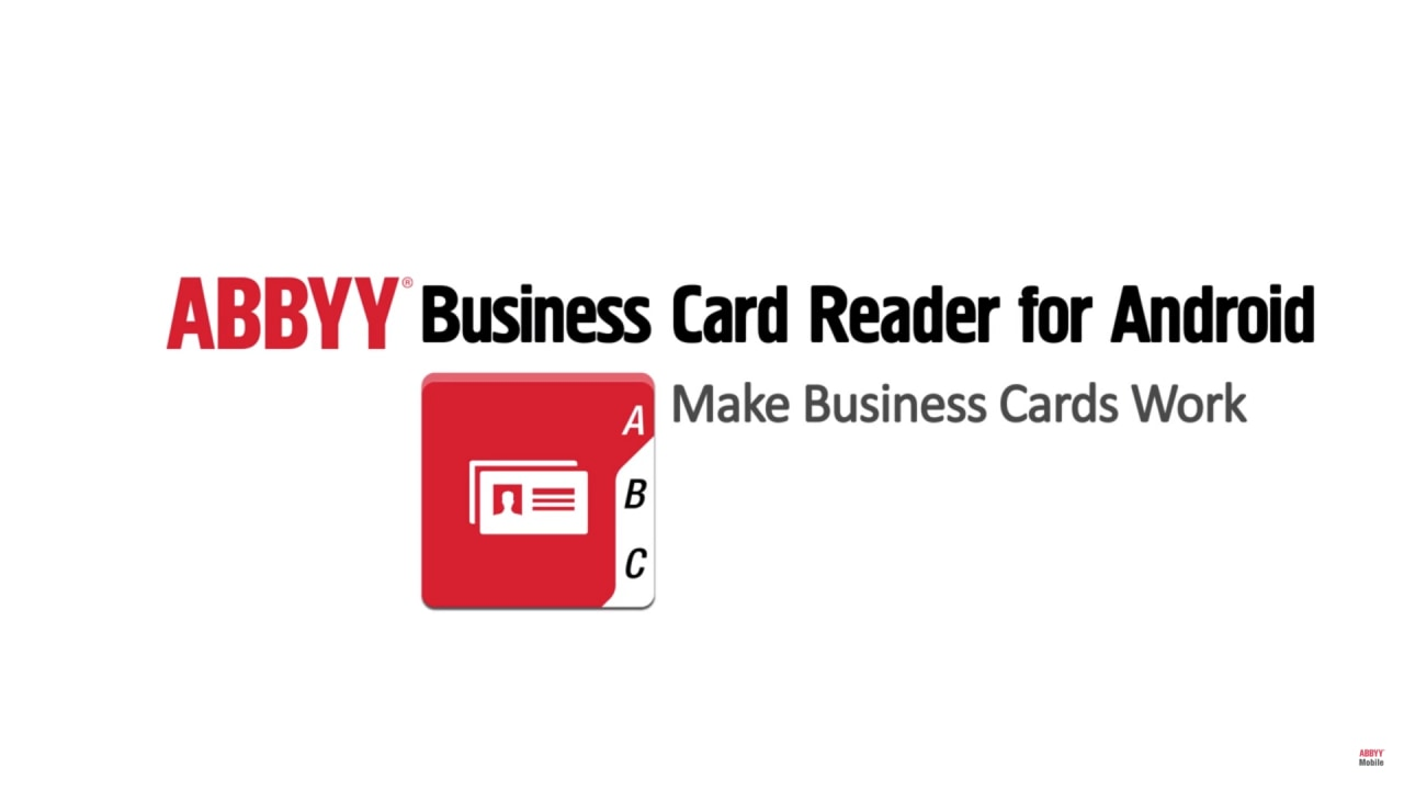 business card reader