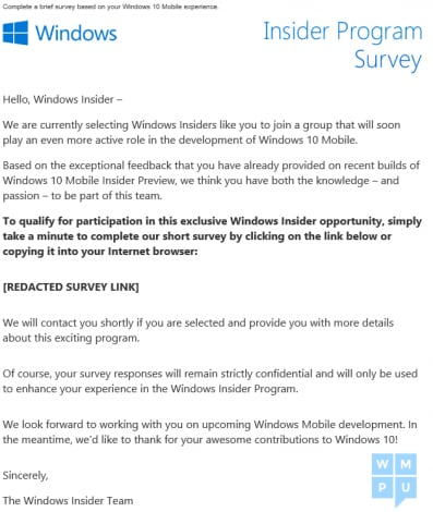Mail Windows Insider