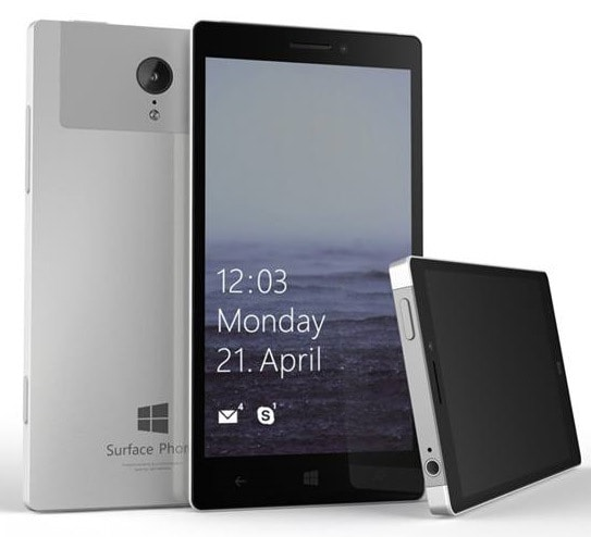 Surface phone render concept