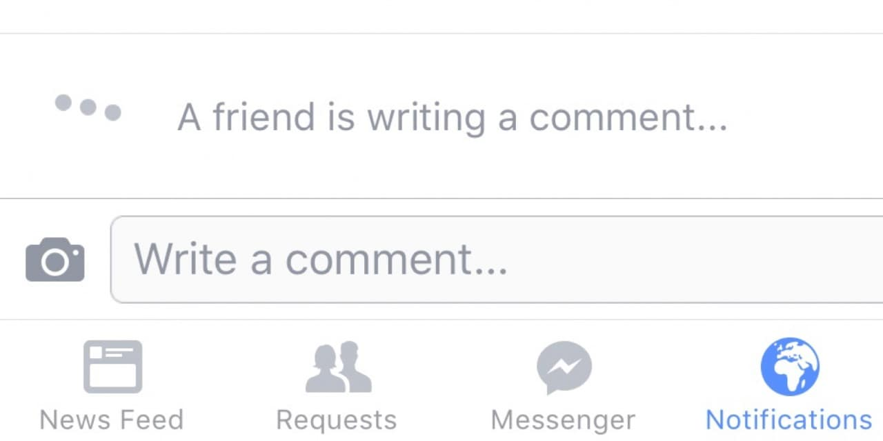 Facebook - writing-a-comment