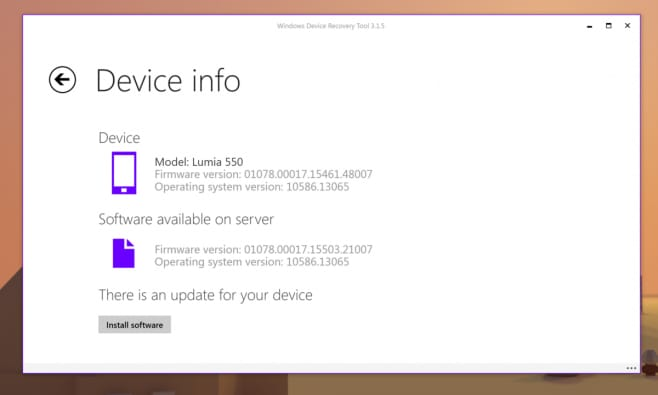 lumia-550-Windows Device Recovery Tool