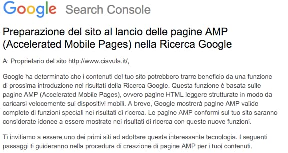 AMP email google