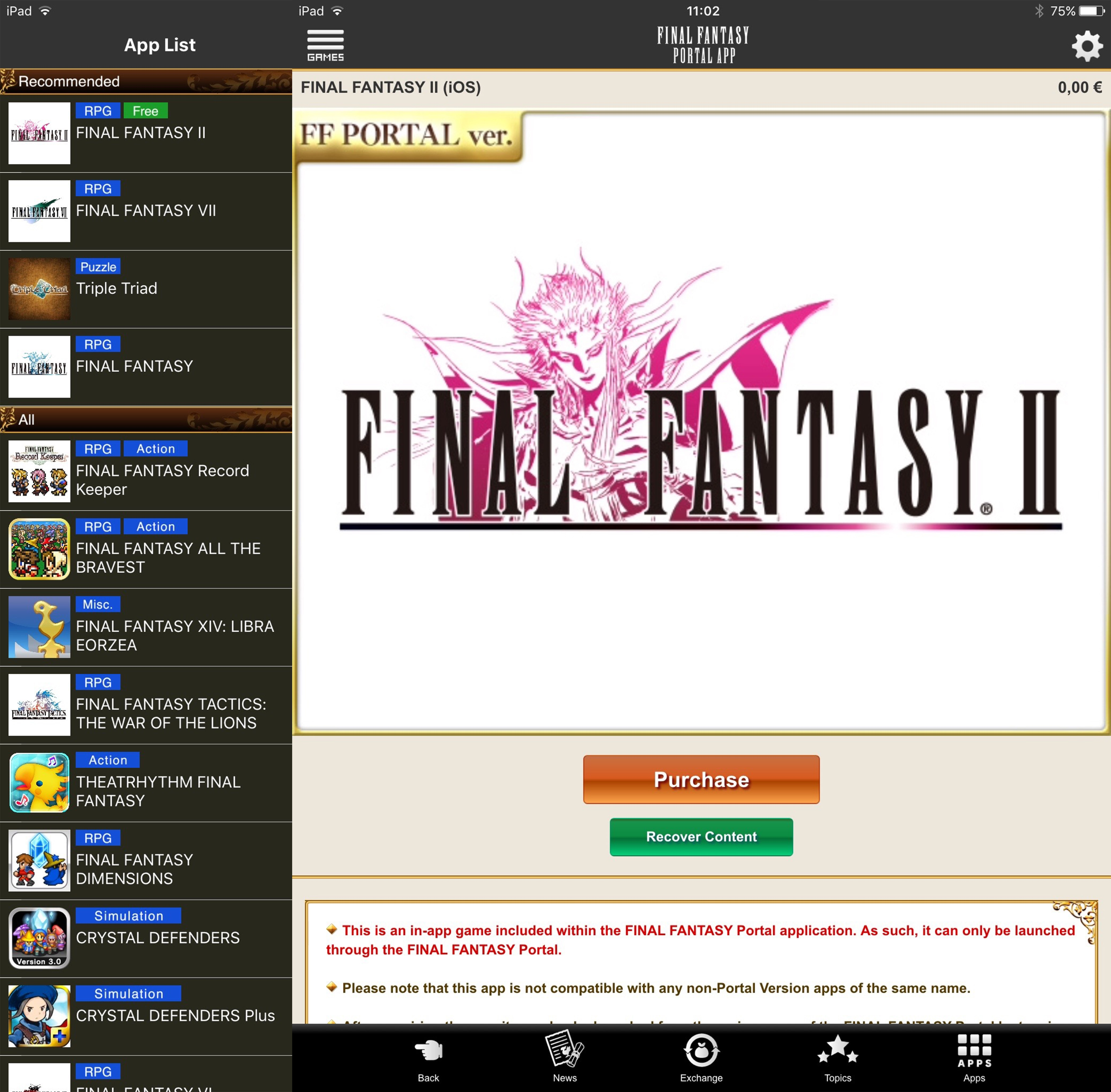 Final Fantasy II download gratis