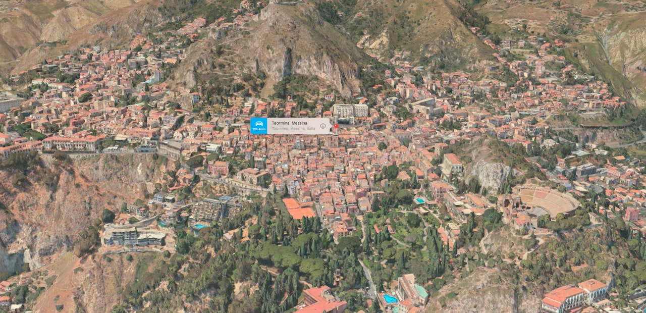 Taormina Flyover Apple